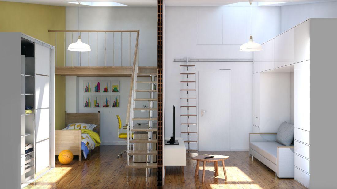 Progetto camere da letto del bambino e degli ospiti