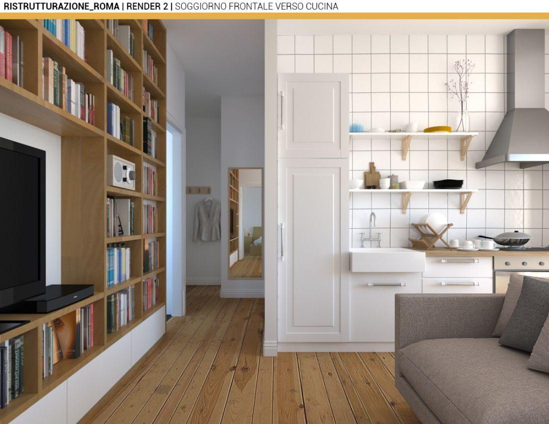Ristrutturazione appartamento di roma 02a for Ristrutturazione appartamento roma