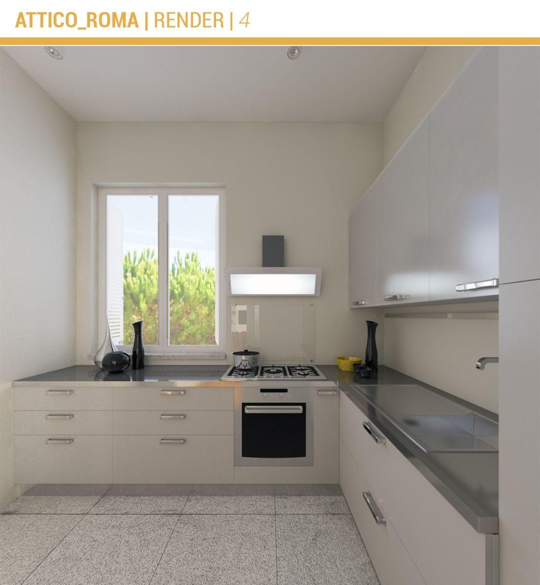 Ristrutturazione attico centro di roma via arno 02a - Ristrutturazione cucine roma ...