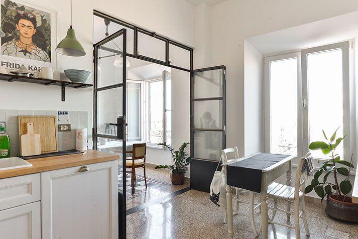 Foto ristrutturazione e arredo appartamento Roma - Cucina vista soggiorno