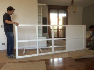 Porta vetrata in legno