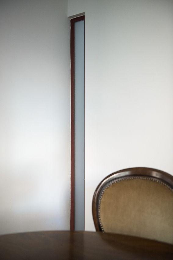 Dettaglio finestra tra bagno e pranzo
