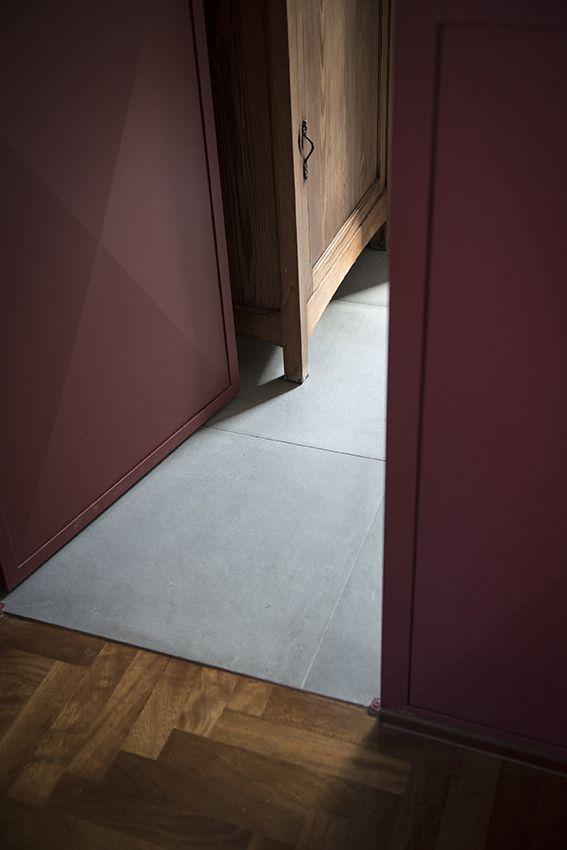 Dettaglio pavimento cucina soggiorno