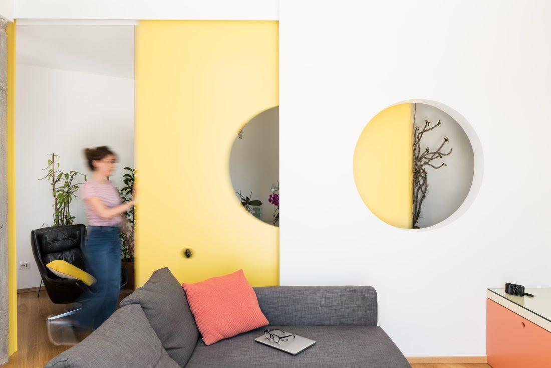 Ristrutturazione monteverde 70 mq   soggiorno studio